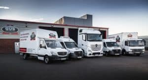 Gus Commercials' commercial vehicle rental depot in Mallusk, Newtownabbey