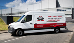 3.5 tonne Mercedes Sprinter van available for hire from Gus Commercials