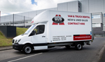Mercedes Sprinter luton van available for hire from Gus Commercials