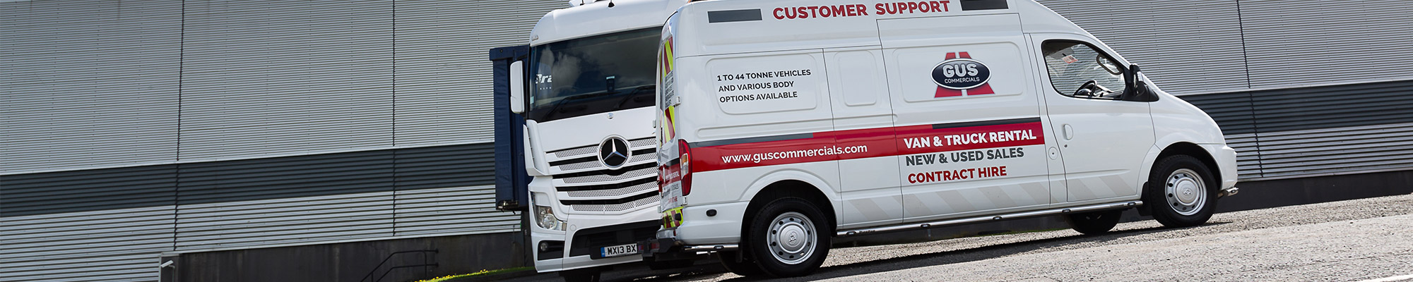 Gus Commercials' 24 hour customer service support van