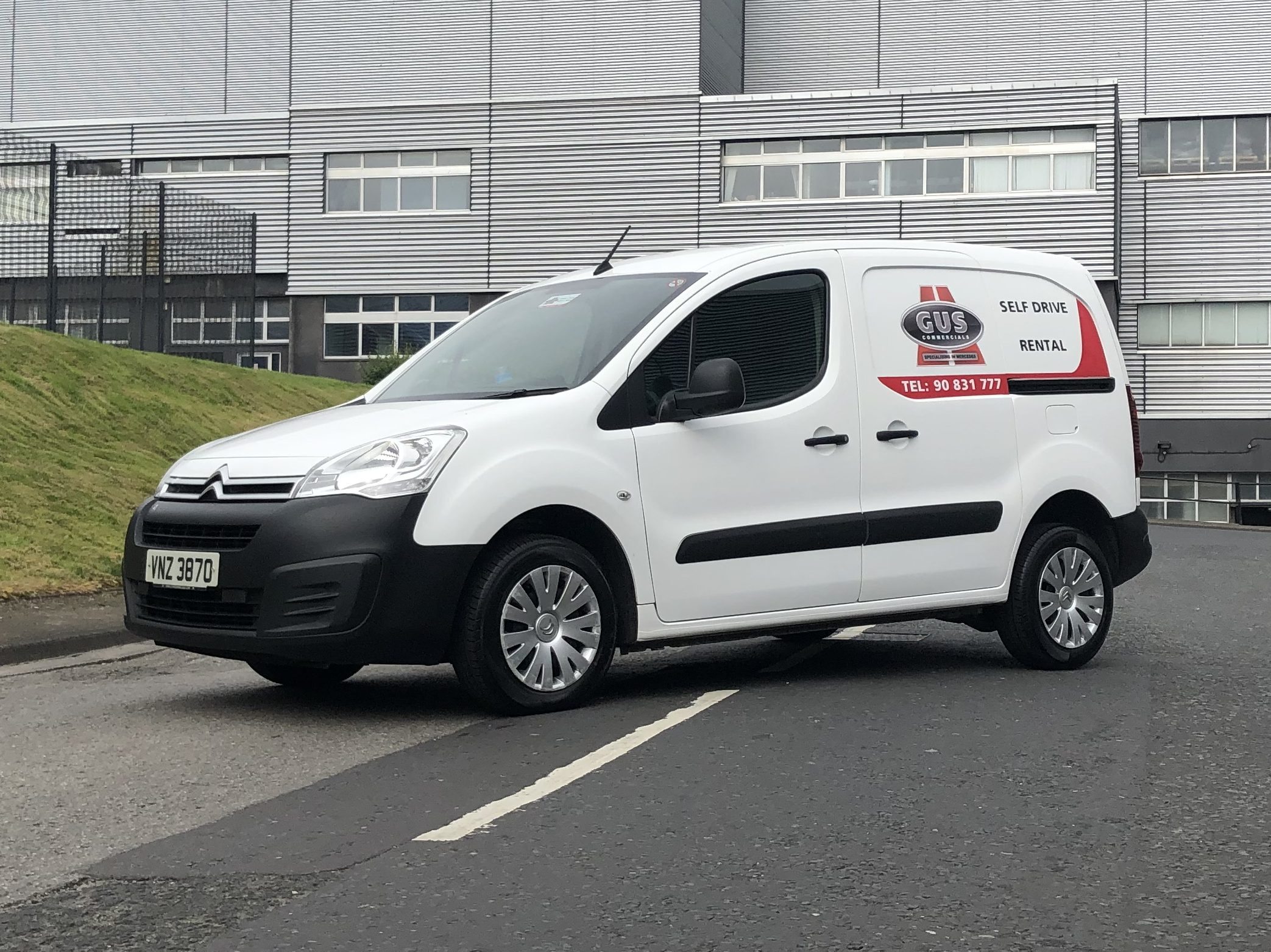 Citroen Berlingo car derived van available for hire from Gus Commercials