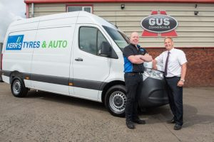 Kerr's Tyres van supplied by Gus Commercials