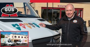 Colin Wilson from Mauds Ice Creams Standing with one of the Company's Ice Cream Delivery Vans