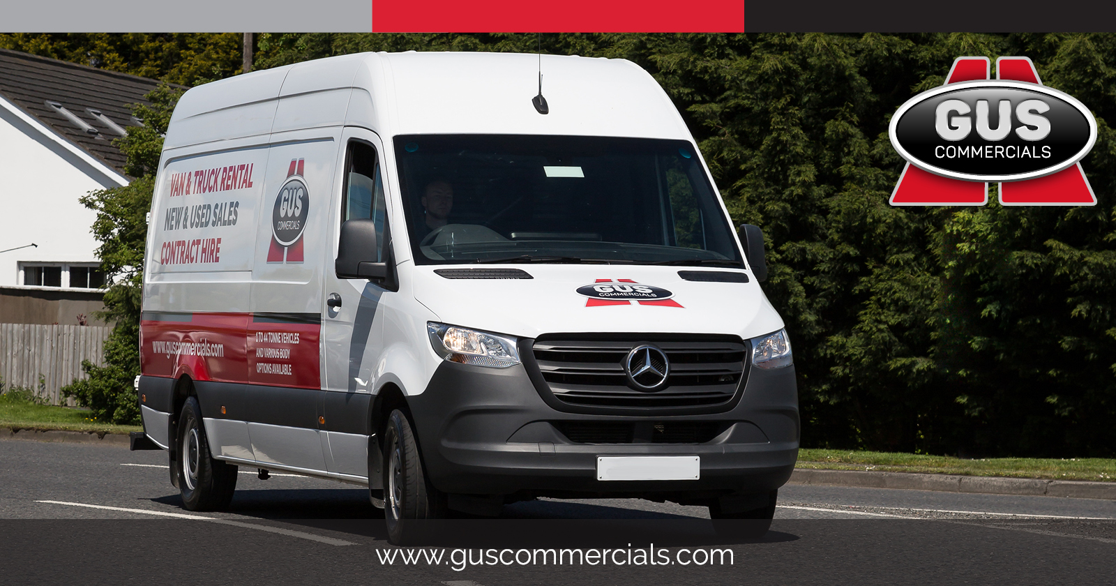 New Mercedes-Benz Sprinter Van for Gus Commercials' Rental Fleet